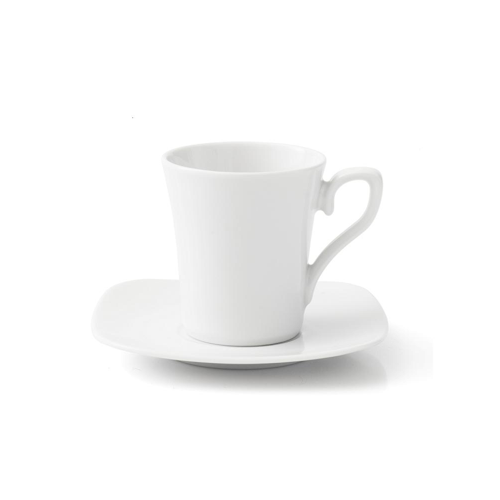 tasse assiette tasse caf 100 ml avec soucoupe viorne en porcelaine blanche. Black Bedroom Furniture Sets. Home Design Ideas