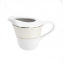 Crémier 200 ml en porcelaine, service de petit déjeuner blanc avec galon d'or en porcelaine idéal restaurant et particulier