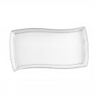 Plat rectangulaire 32 cm Astilbe en porcelaine