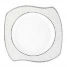 Assiette plate 27 cm (31 cm diag) Astilbe en porcelaine