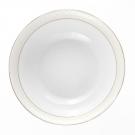 Saladier 23 cm en porcelaine avec filet or, service de table complet