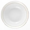 Saladier 26 cm en porcelaine avec filet d'or, service de vaisselle