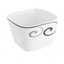 Coupelle carrée 11 cm Hibiscusen porcelaine