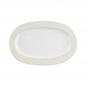 Ravier 25 cm en porcelaine avec liseré doré, art de la table et porcelaine