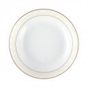 Bol 13 cm  en porcelaine, service de petit déjeuner blanc avec liseré d'or