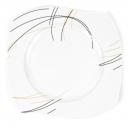 Assiette plate 27,5 cm (31 cm diag) Aubépine en porcelaine