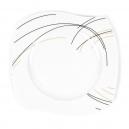 Assiette plate 22 cm (25 cm diag) Aubépine en porcelaine