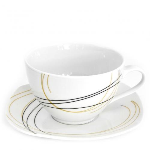 tasse assiette tasse th 400 ml avec soucoupe fleur de bois en porcelaine. Black Bedroom Furniture Sets. Home Design Ideas