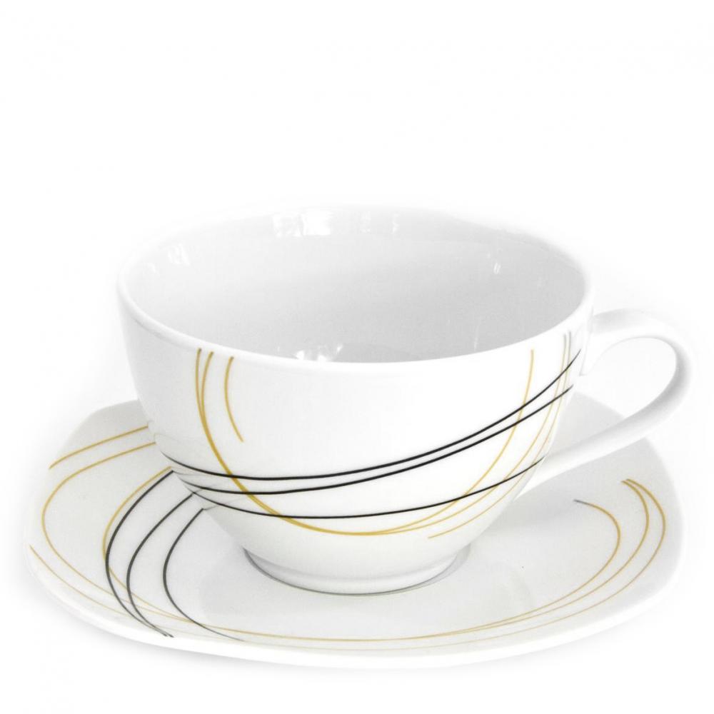 tasse assiette tasse th 400 ml avec soucoupe aub pine en porcelaine. Black Bedroom Furniture Sets. Home Design Ideas