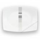 Plat rectangulaire 33 cm Sparaxis en porcelaine