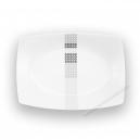 Plat rectangulaire 29 cm Sparaxis en porcelaine