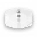 Ravier 24,5 cm Sparaxis en porcelaine