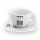 Tasse à thé 250 ml avec soucoupe 14 cm Sparaxis en porcelaine
