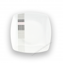 Assiette plate carrée 20 cm Sparaxis (24 cm diag) en porcelaine