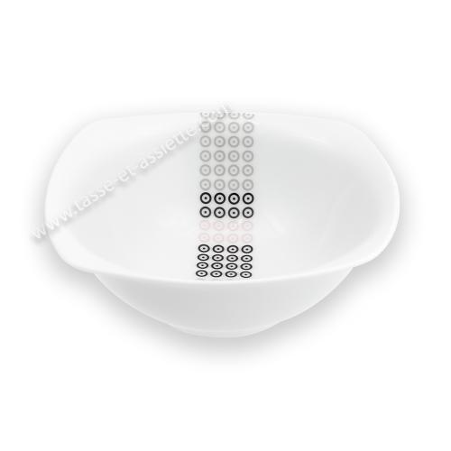 Tasse assiette saladier bol coupelle 17 cm mandalas en - Saladier porcelaine blanche ...