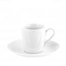 Tasse à café 100 ml avec soucoupe en porcelaine Catalpa