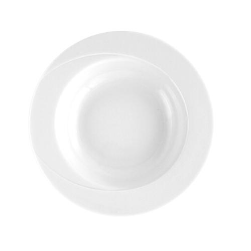 assiette blanche ronde creuse en porcelaine blanche 23 cm lac des cygnes. Black Bedroom Furniture Sets. Home Design Ideas