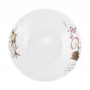 Assiette creuse 21,5 cm Symphonie des Papillons en porcelaine