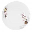Assiette plate 28 cm Symphonie des Papillons en porcelaine