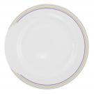 Assiette 27 cm plate ronde en porcelaine blanche - Bulle Pastel