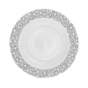 Assiette calotte ronde 22,5 cm Black or White en porcelaine