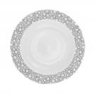 Assiette calotte ronde 22,5 cm Black or White en porcelaine