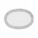 Plat ovale 24 cm Black or White en porcelaine