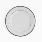 Assiette plate ronde à aile 17 cm Jardin Secret en porcelaine