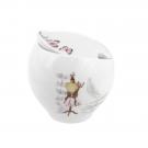 Sucrier 230 ml avec couvercle Symphonie des Papillons en porcelaine