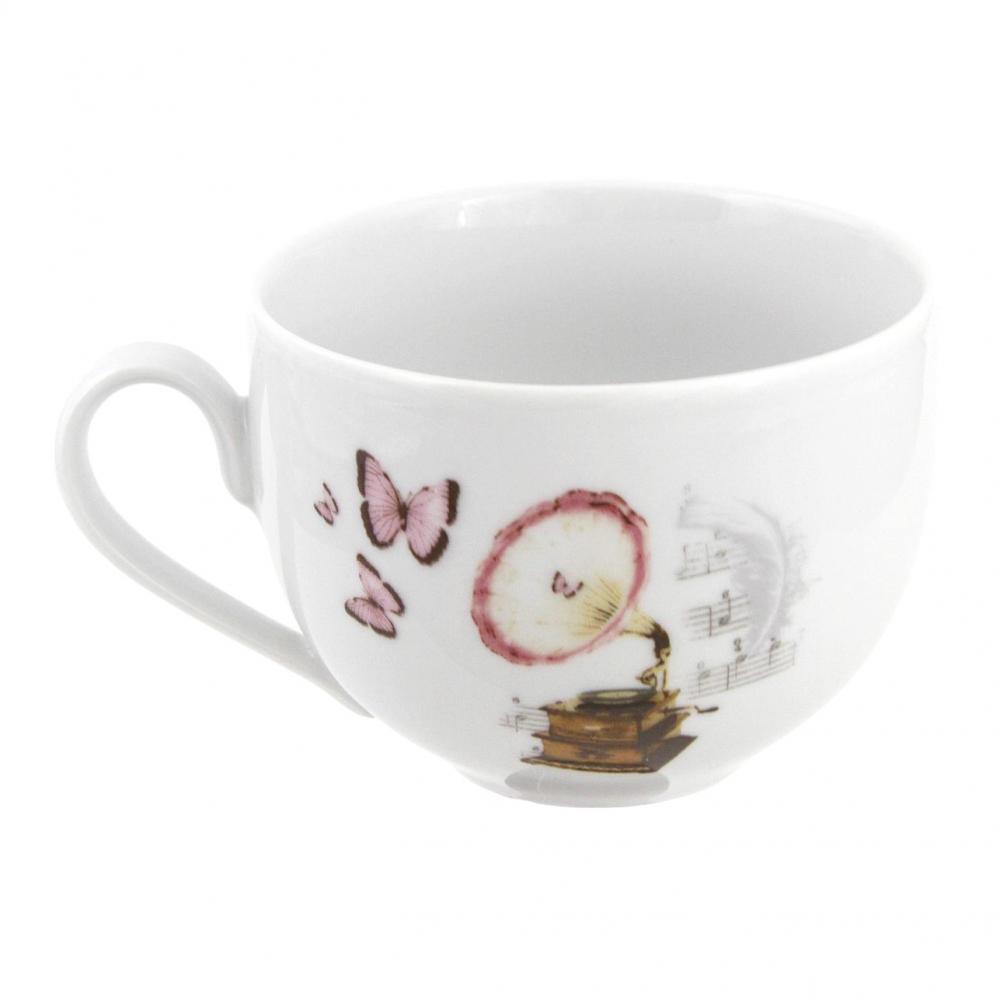 tasse assiette tasse petit d jeuner 450 ml symphonie des papillons en porcelaine. Black Bedroom Furniture Sets. Home Design Ideas