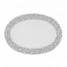 Plat ovale 33 cm Black or White en porcelaine