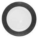 Plat rond creux 29 cm Black or White en porcelaine