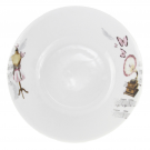 Saladier rond 26 cm Symphonie des Papillons en porcelaine