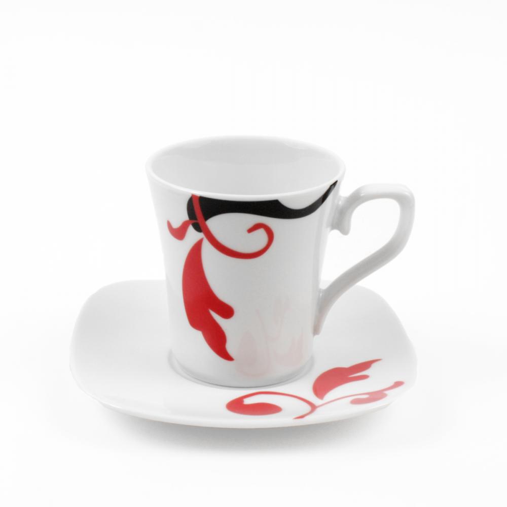 tasse assiette tasse caf 100 ml avec soucoupe. Black Bedroom Furniture Sets. Home Design Ideas