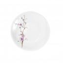 Assiette plate 19 cm Fusain en porcelaine