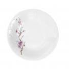 Assiette creuse 22,5 cm Fusain en porcelaine