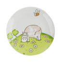Assiette plate 19 cm Jonquille en porcelaine motif vache
