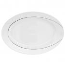 Plat 33 cm ovale en porcelaine - Pierre de Lune, service complet en porcelaine