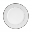Plat rond à aile 32 cm Vague mousseuse en porcelaine