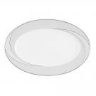 Plat ovale 33 cm Cristal Eternel en porcelaine