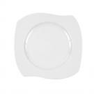 Assiette plate 22 cm (25 cm diag) Gaillarde en porcelaine blanche