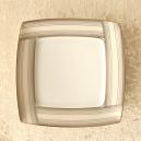 Assiette plate carrée 21 cm Saxifrage en porcelaine fine blanche