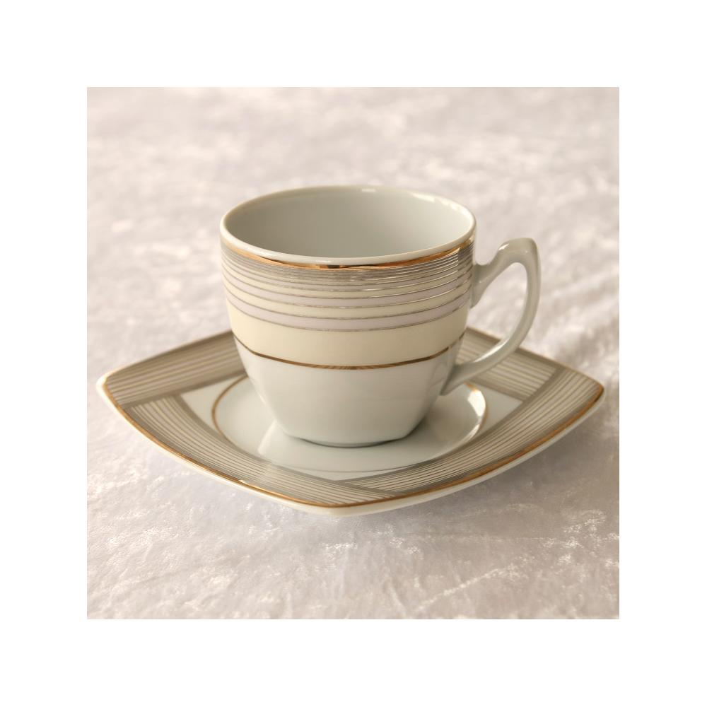 tasse th 200 ml et soucoupe saxifrage porcelaine blanche. Black Bedroom Furniture Sets. Home Design Ideas