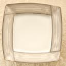 Assiette plate carrée 25,7 cm Saxifrage en porcelaine