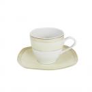 Tasse 200 ml avec soucoupe en porcelaine, service à thé en porcelaine de grande qualité