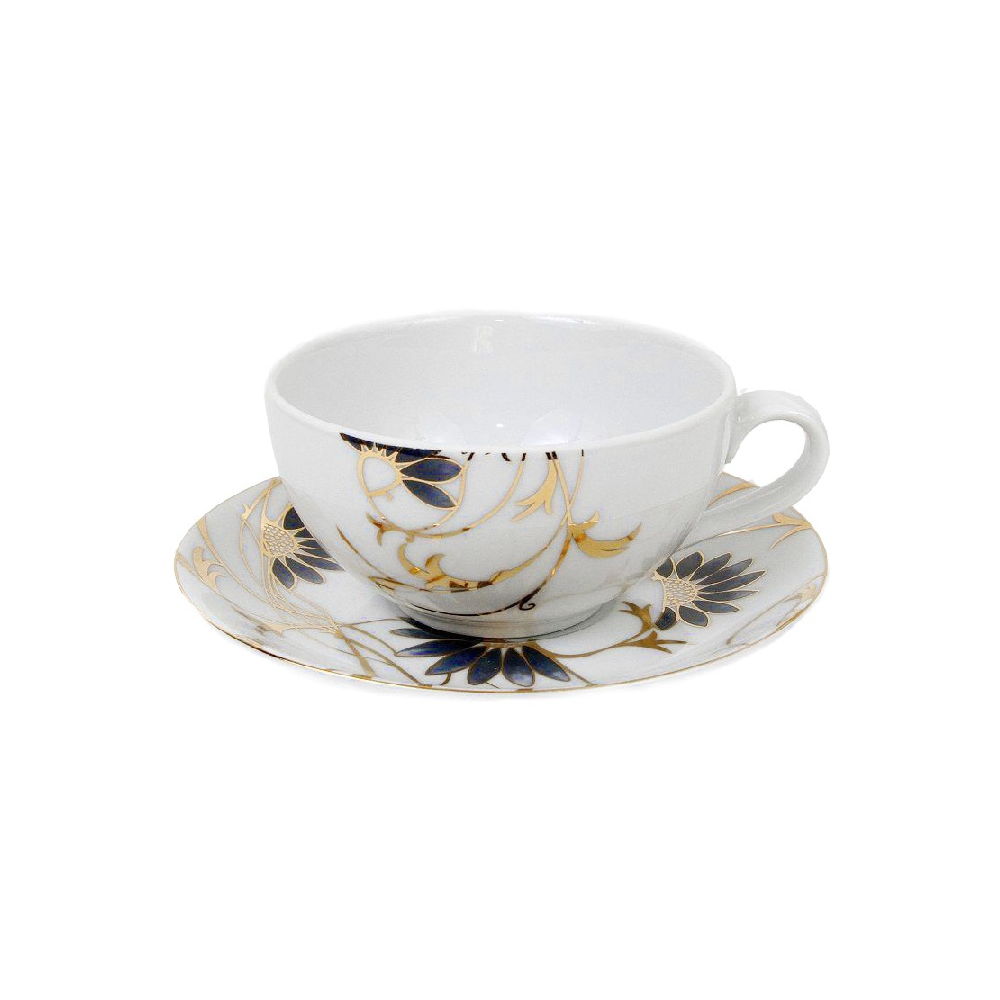 tasse th 200 ml avec soucoupe p tale bleut en porcelaine. Black Bedroom Furniture Sets. Home Design Ideas