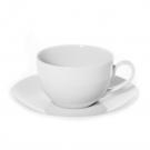 Tasse à thé 250 ml avec soucoupe Révérence Nivéenne en porcelaine blanche