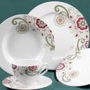 Service de table 30 pcs en porcelaine fine blanche Chant des Prés