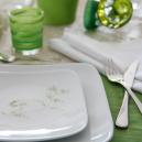 Service de table 18 pces Solanum en porcelaine