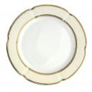 assiette porcelaine ronde, assiette avec galons or, Assiette 27 cm ronde plate, Impression Chatoyante, art de la table